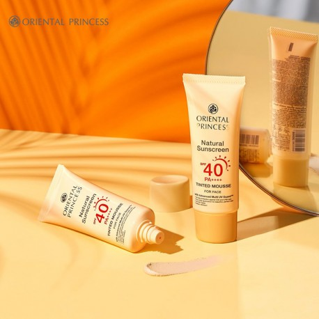 Natural Sunscreen Tinted Mousse SPF40/PA+++